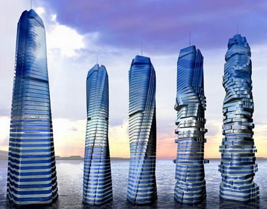Engineering 7 dubai rotating towers uN8Wm 7071 18 Amazing Building Wonders from Construction World