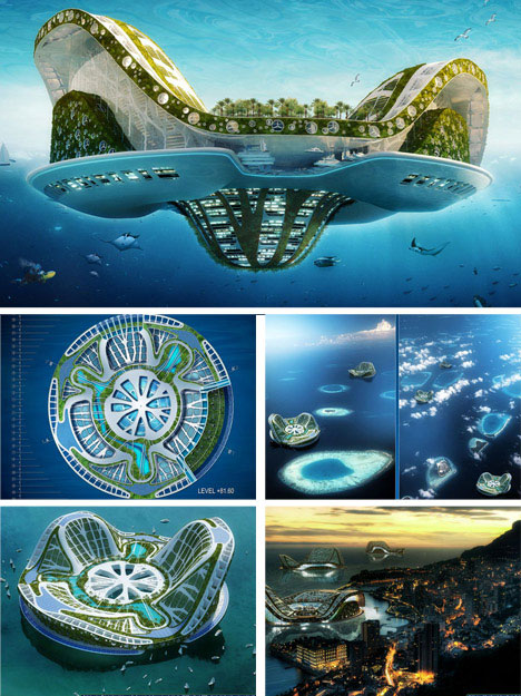 floating green ecocities 7 Modern Wonders of Green Technology: Conceptual and Actual