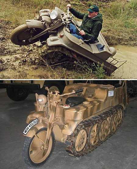 kettenkrad 10 Unique & Strange Motorcycles Around the World