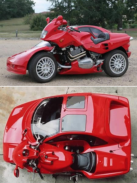 motorcycle car 10 Unique & Strange Motorcycles Around the World
