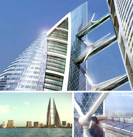 skyscraper wind turbines 7 Modern Wonders of Green Technology: Conceptual and Actual