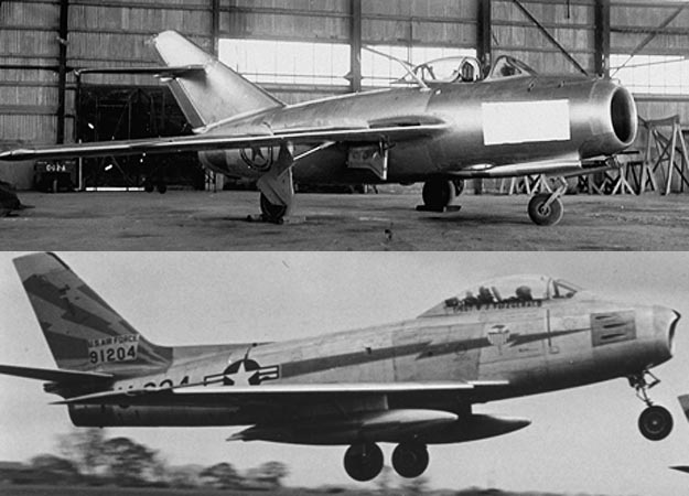 mig 15 f 86 sabre 625x450 Top 10 Fighters Planes