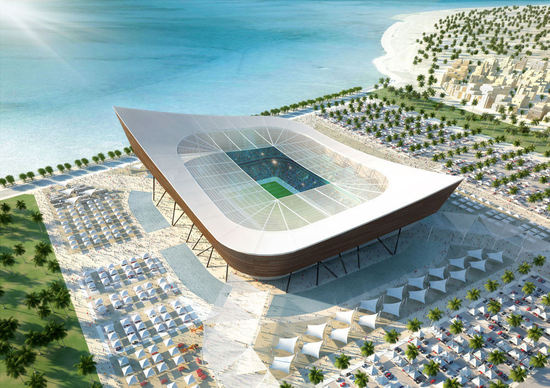 Qatar FIFA World Cup 2022 4 thumb 550x388 Qatar Unveils 5 Solar Stadiums for 2022 World Cup