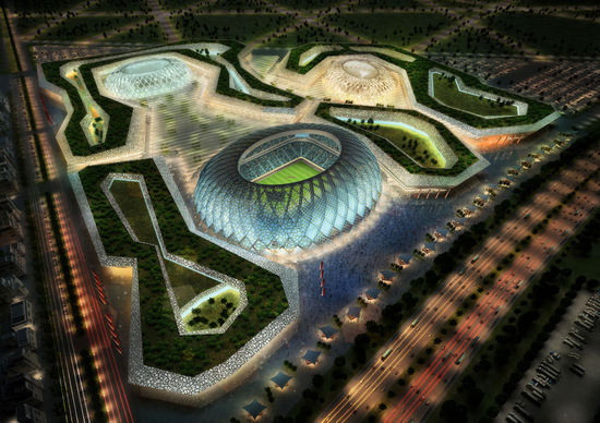 Qatar FIFA World Cup 2022 5 thumb 550x388 Qatar Unveils 5 Solar Stadiums for 2022 World Cup