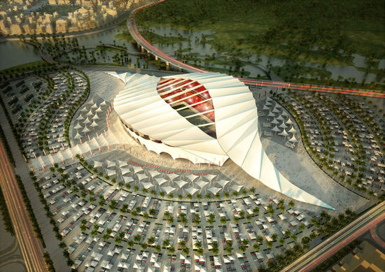 Qatar FIFA World Cup 2022 6 thumb 550x389 Qatar Unveils 5 Solar Stadiums for 2022 World Cup