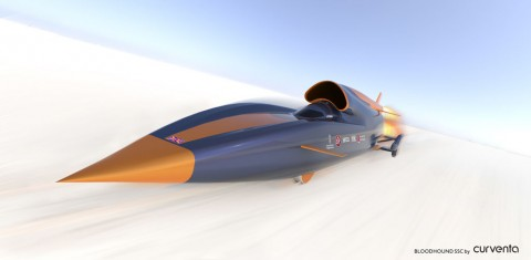 bloodhound World's Fastest Jet Car Set to Hit 1000mph