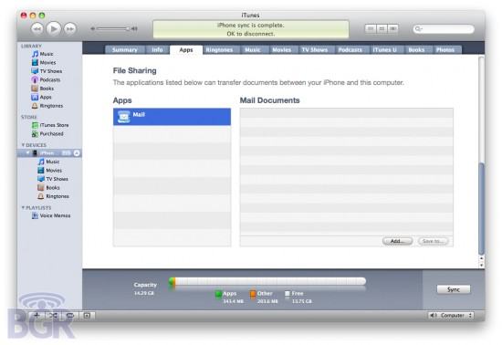 iphone 4b3 file sharing 550x378 Hot New Features Uncovered in iPhone OS 4.0