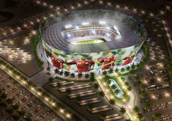 qatar 2022 1 93JbJ 69 Qatar Unveils 5 Solar Stadiums for 2022 World Cup