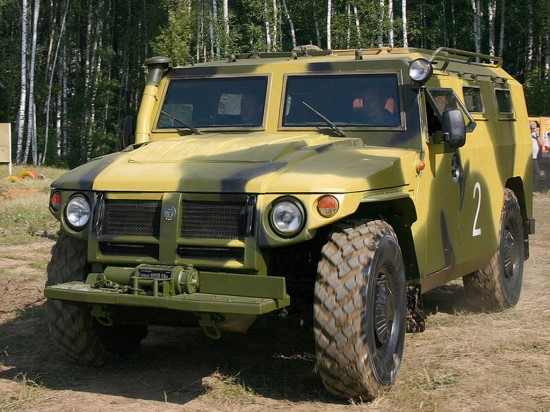 gaz tigris r7 550x412 Top 10 Russian Military Vehicles