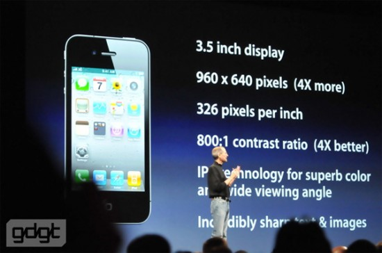 iphone 4 550x364 Apple iPhone 4G Announced: Features & Price Overview