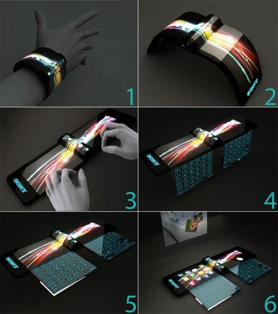 nextep1 550x620 Sony Unveils Futuristic Concept Computer Bracelet