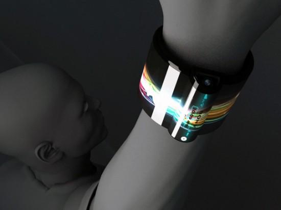 nextep2 550x412 Sony Unveils Futuristic Concept Computer Bracelet