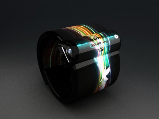 nextep4 550x412 Sony Unveils Futuristic Concept Computer Bracelet