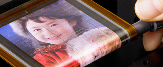 sony flexible oled display Sony Unveils  Flexible OLED Thinner than Hair