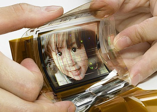 sonys old flexible screen Sony Unveils  Flexible OLED Thinner than Hair