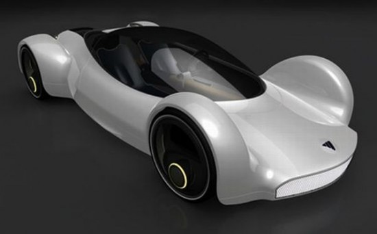 fastest electric car 550x342 Electric Concept Car Offers Speed of an Aircraft With Zero Emissions