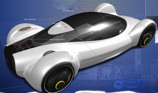 fastest electric car 6 550x324 Electric Concept Car Offers Speed of an Aircraft With Zero Emissions
