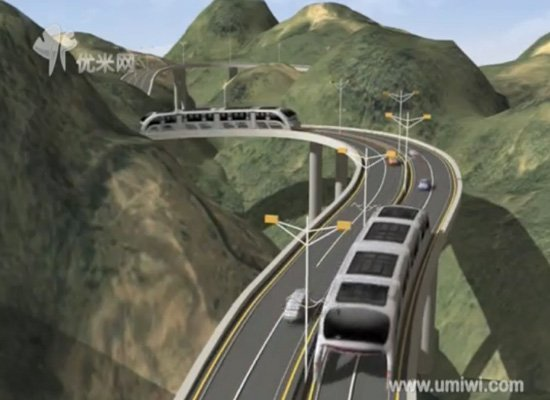 Chine 3D Bus 3 China Future Buses Will Drive Over Cars