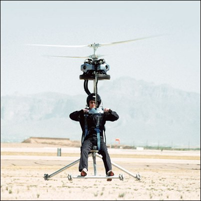 Da Vinci's Sketch Gives Birth to Smallest One-Man Helicopter