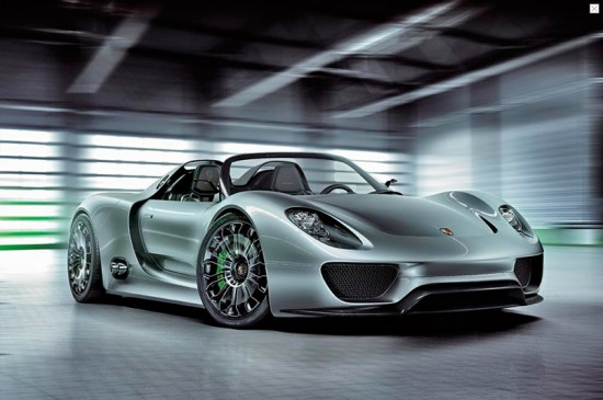 porsche 918 spyder concept sports car 3 550x365 Porsche 918 Spyder Hybrid To Go On Sale