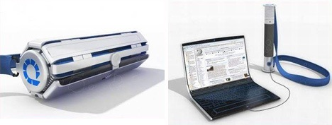 rollingoledlaptop Roll it Up – The Flexible Future Laptop