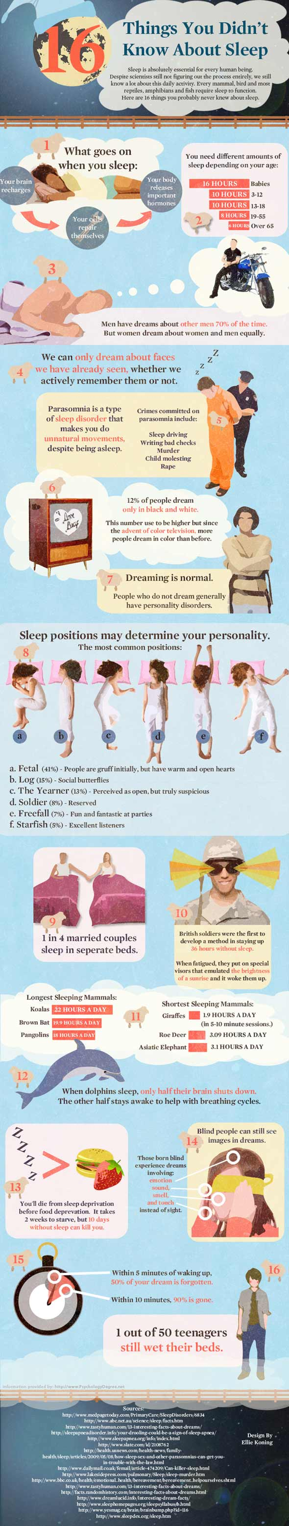 sleep graphic 590ds100510 1286284345 Amazing Facts You Didnt Know About Sleep