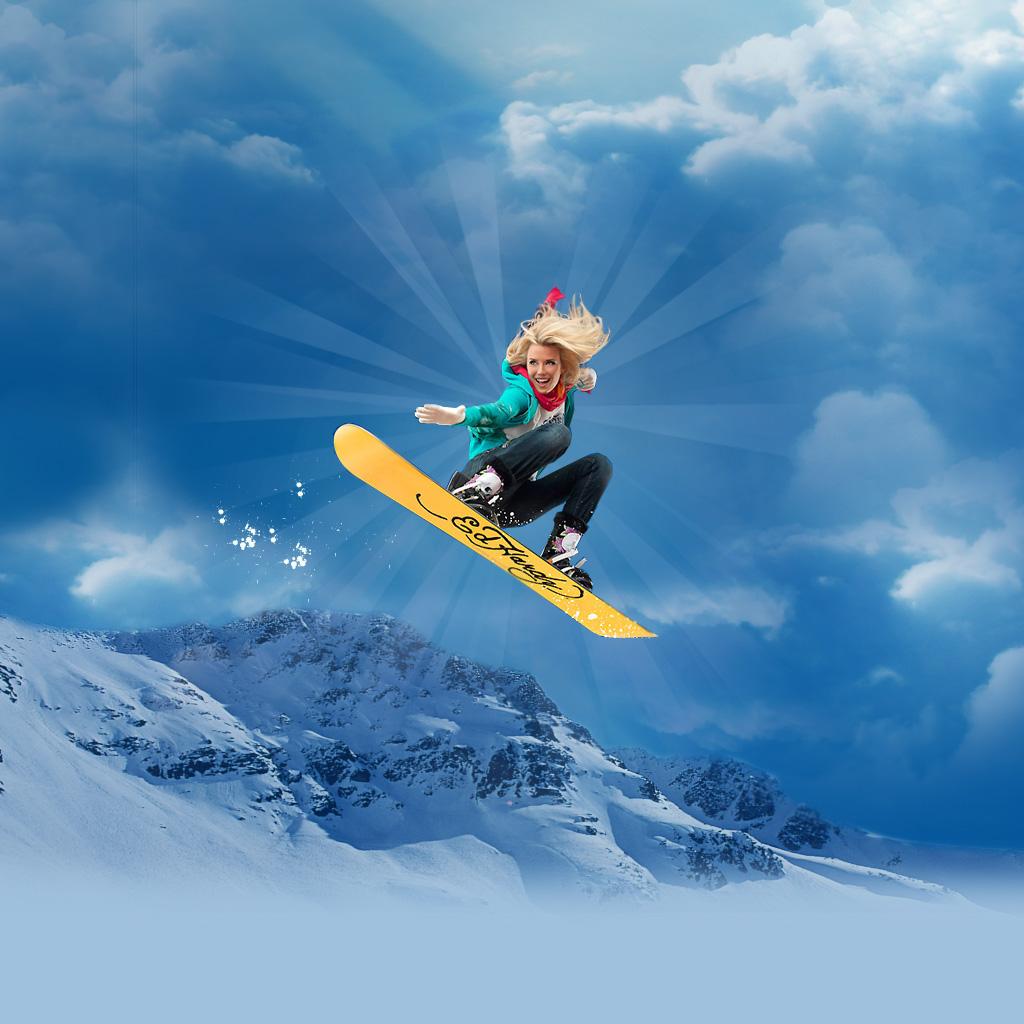 Snowboard girl frozen foto 38