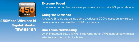 specs 550x167 Worlds First 450Mbps Router