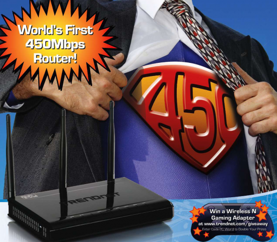 thumb 550x481 Worlds First 450Mbps Router