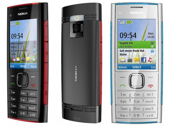 Nokia X2 00 Black White Blue Red 550x412 Top 10 Nokia mobiles