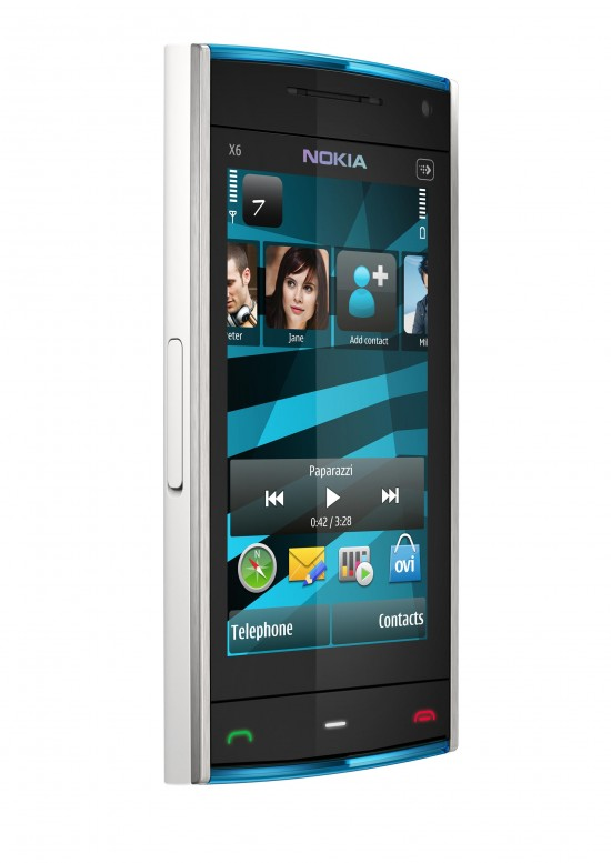Nokia X6 White Mobile 550x777 Top 10 Nokia mobiles