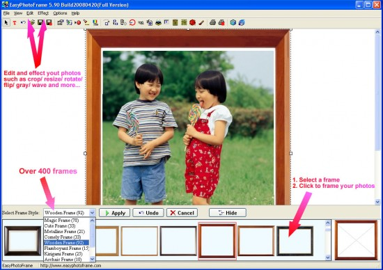 easy photo frame 10107 550x388 Top 10 Image Editing software