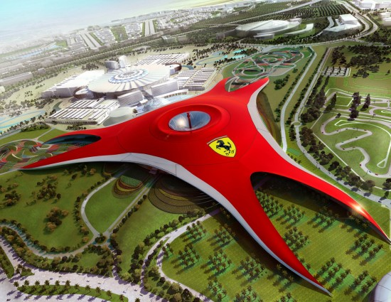 ferrari world abu dhabi 550x425 Ferrari World Abu Dhabi   Worlds Best Theme Park