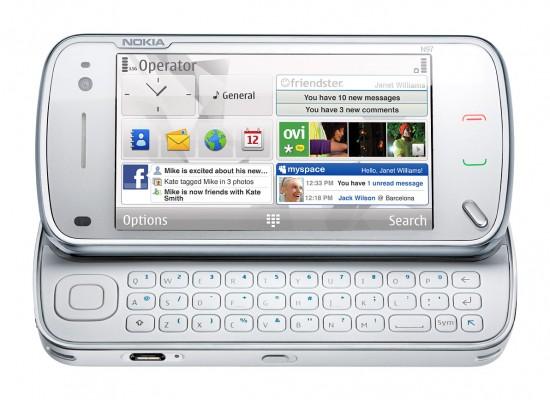nokia n97 white 05a lowres 550x400 Top 10 Nokia mobiles