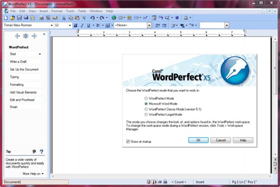 Top 10 word processing software realitypod part 3 wordperfect x5 freerunsca Image collections