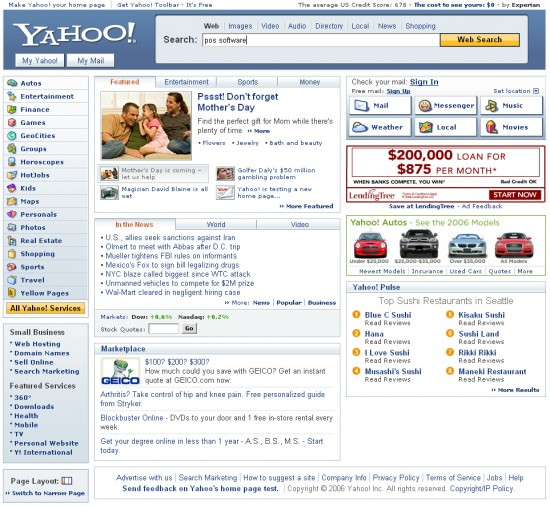 yahoo new design 550x506 Top 10 Search Engines
