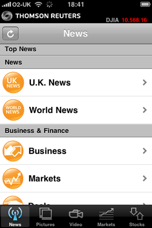 10 reuters 1 300 100 Top 10 iPhone Applications
