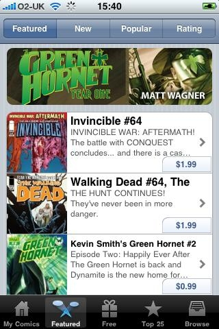 12 comics 320 100 Top 10 iPhone Applications
