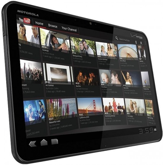 Motorola Xoom 4G tablet 1 550x555 Top 9 Tablet PCs