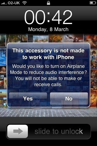 Accessory is not made to work with iPhone