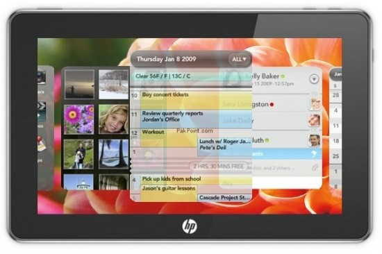HP webOS tablet computer slate 550x366 HP Bringing webOS to PCs
