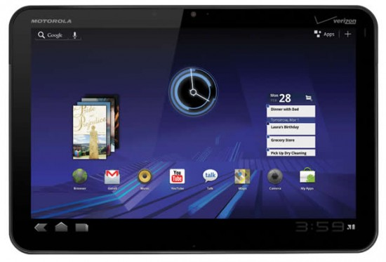 Motorola XOOM 550x373 Motorola Xoom Being Released Today
