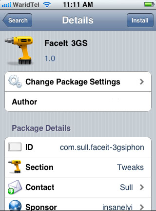 Enabling FaceTime on iPhone 3GS