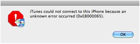 How to Solve Error (0xe8000065) of iTunes