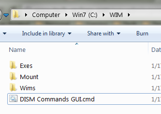 How to Use a DISM Batch File To Mount and Unmount WIM in Windows 7