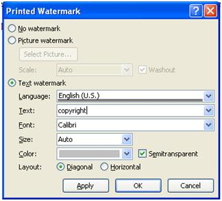 How to Watermark Documents in Microsoft Word 2010