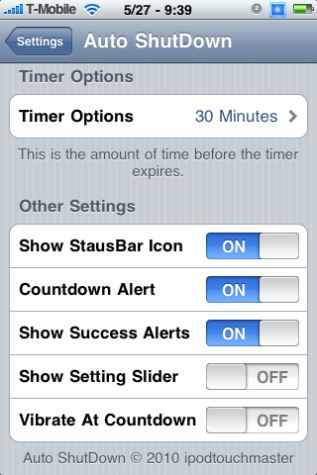 autoshutdown3 How to turn off iPhone automatically at a specific time?