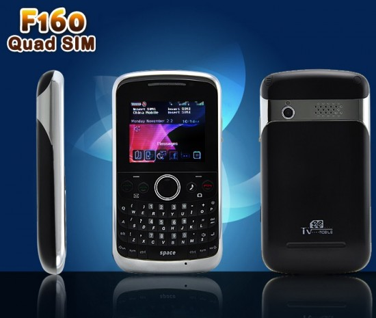 f160 quad sim mobile phone solonomi 4 1 550x465 Worlds First 4 SIM Mobile Phone Launched