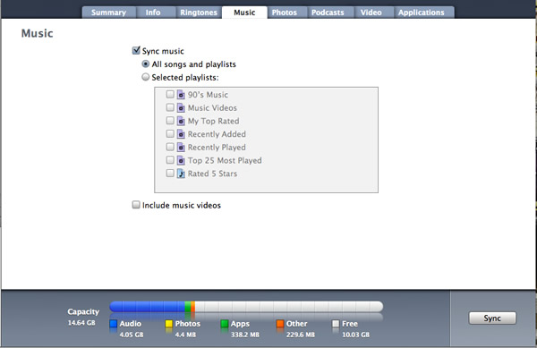 how to put songs in iphone through itunes