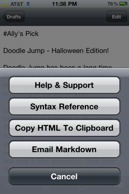 Markdown Mail: Create HTML Rich Email on IPhone